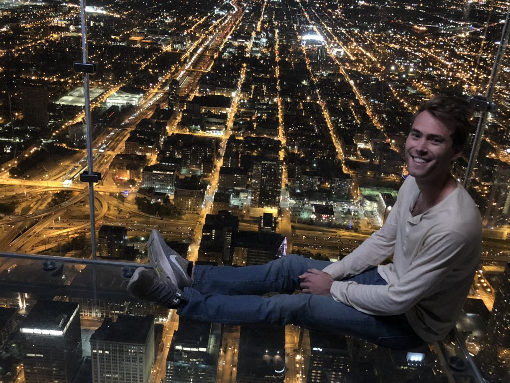 Henri at Chicago SkyDeck; Mercedes Santana of Passports and Papers