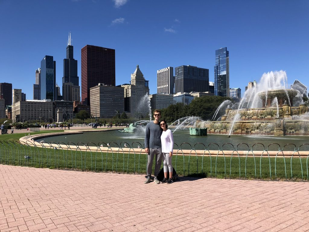 Us at Buckingham Fountain; Mercedes Santana
