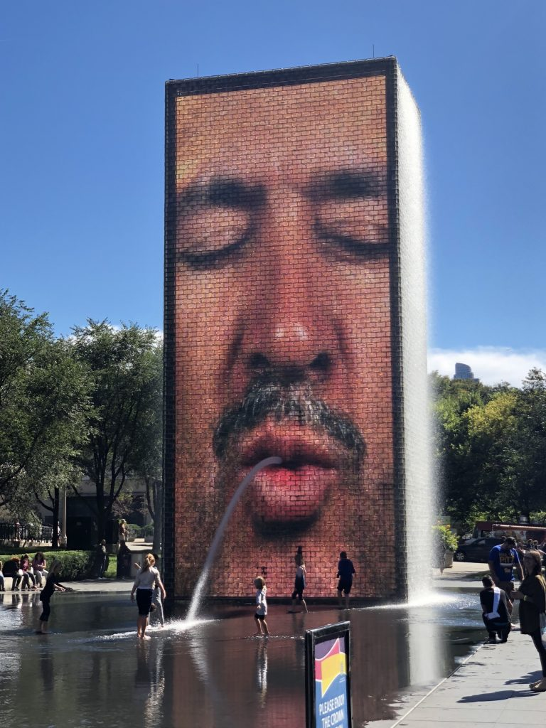 Crown Fountain, Mercedes Santana of Passports and Papers