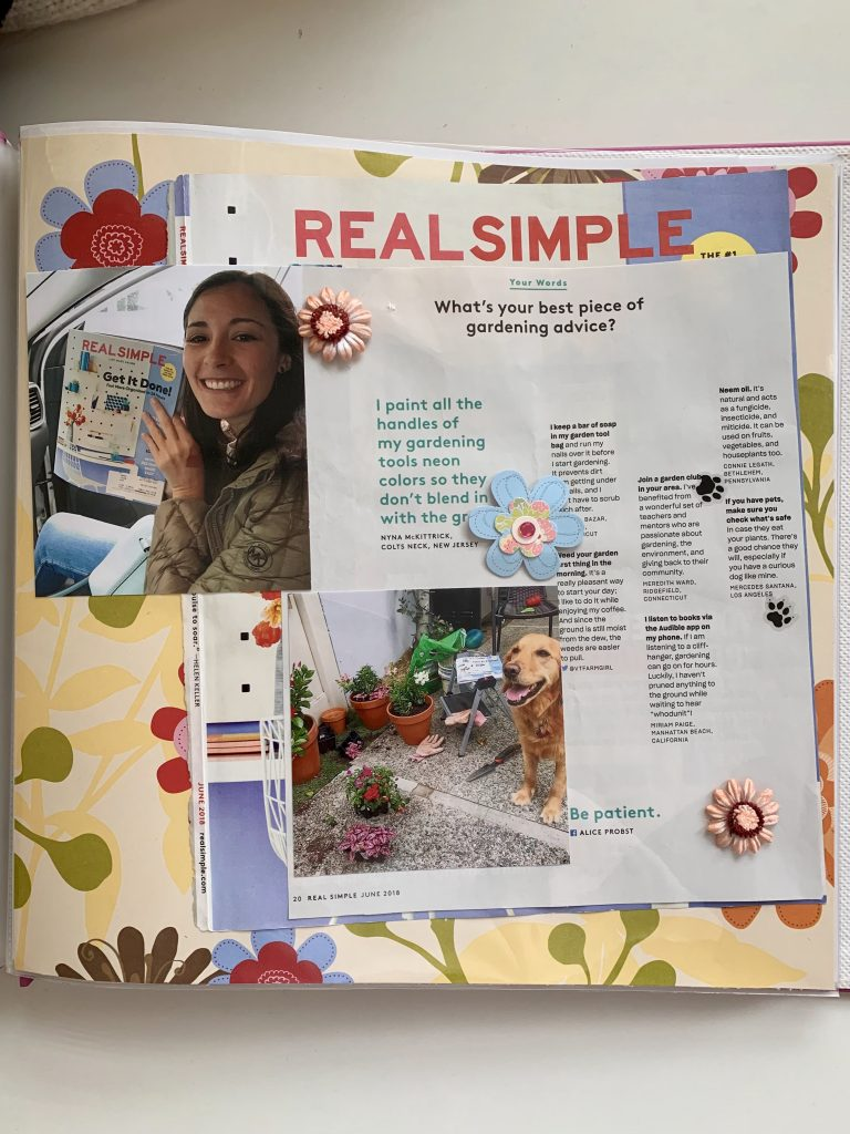 Real Simple Scrapbook Mercedes Santana