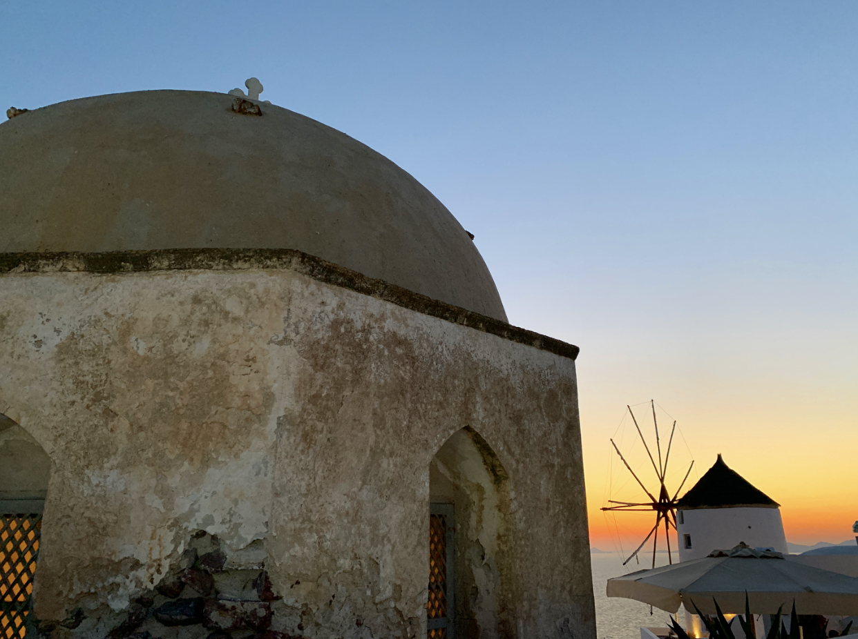 Santorini Sunset | Mercedes Santana Passports and Papers.com