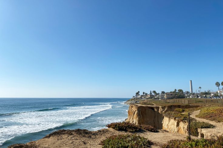 Cliffs at South Carlsbad Beach | Mercedes Santana, PassportsandPapers.com